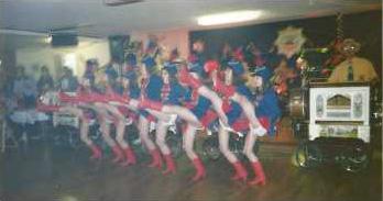 Tanzgarde beim Tanzwettbewerb